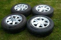 Kola 165/70 R13, 4 kusy - letní pneumatiky, alu disky Škoda