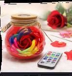 Svítící vázička s růží