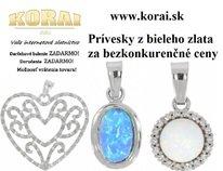 Prívesky z bieleho zlata od - KORAI