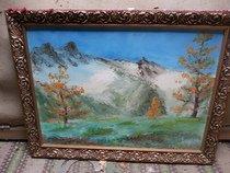 Obraz - Krajina s horami