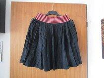 Pěkná zajímavá černá letní sukně, vel. 40