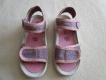 Pěkné růžovofialové sandálky s kytičkami,č.28